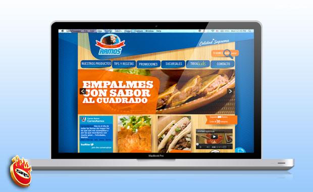 La Renovada Imagen De Carnes Ramos En La Web Creada Por Sr Smith