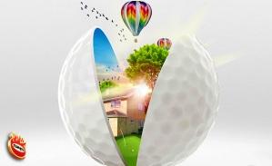 La pelota de golf, elemento distintivo de esta campaña creada en SrS para Ciudad del Sol